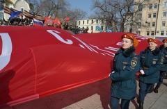 Знамя Победы развернут 9 мая на центральной площади Владивостока