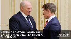 Камень за пазухой. Кожемяко заявил Лукашенко, чем и почему он озадачен