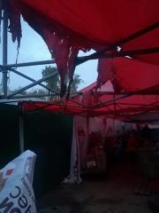 Пожар произошел на одной из ярмарок