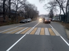 Госавтоинспекция Артема проводит проверку по факту ДТП, в результате которого пострадал пешеход
